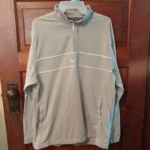 Men's Gray Nike Zip Up Sweatshirt size M